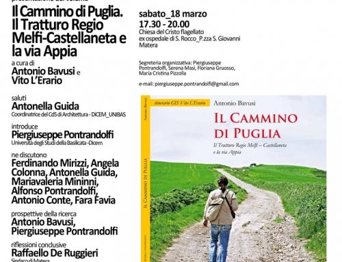 Presentazione del Cammino di Puglia a Matera il 18 Marzo 2017